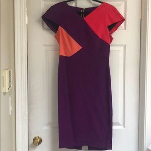 Roland Mouret Colorblock Tournay Dress